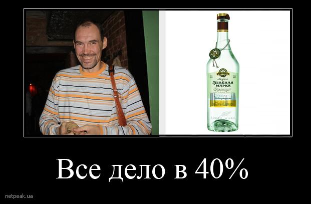 Дмитрий Сатин и водка